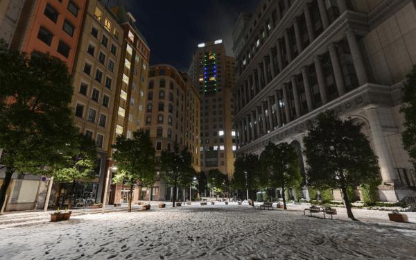 雪のイタリア街