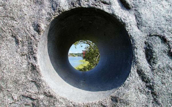 岩穴からの景色