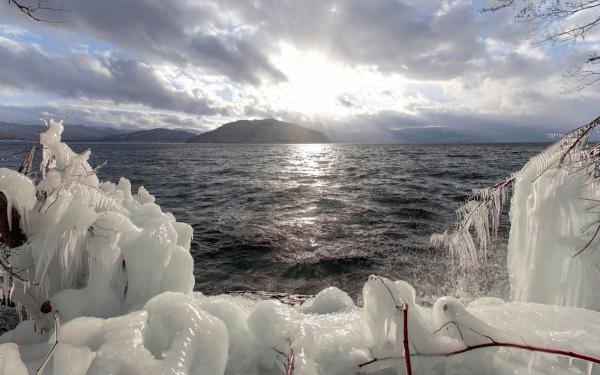 十和田湖 しぶき氷